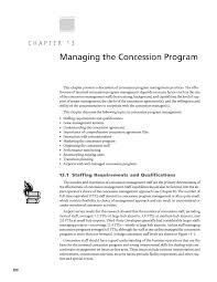 Chapter 13 Managing The Concession Program Resource Manual For