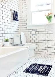 white subway tile gray floor bathroom best bathrooms ideas on