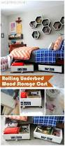 Rolling Wood Storage Rack Plans by 25 Best Storage Cart Ideas On Pinterest Cart College Desk