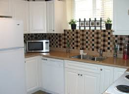 mosaic backsplash replace kitchen cabinet doors with glass granite