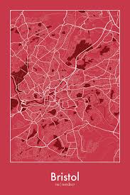 Bristol England Map by Bristol England Map Print Map Illust Pinterest Discover