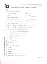 composite function worksheet page 5 integers