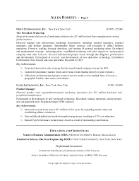 Marketing Achievements Resume Examples by Ceo Resume Sample