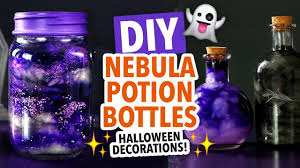diy halloween nebula jar u0026 potion bottles hgtv handmade youtube