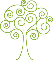 abstract tree with spiral leafs vector illustration stock vector