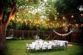 String Lamps Outdoor And Patio Fabulous Backyard Wedding Decorations Mixed