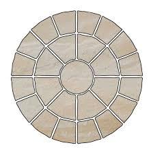 Circular Patio Kit by Bradstone 4 75m Riven Circular Patio Kit Departments Diy At B U0026q