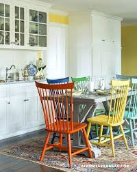 colorful kitchen chairs kitchen chairs painted different colors best colorful chairs ideas