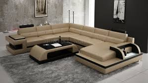 canape panoramique design canapé d angle panoramique en cuir avec table basse assortie modèle