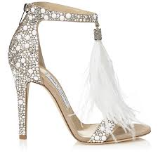 wedding shoes jimmy choo white suede and hot fix embellished sandals with an