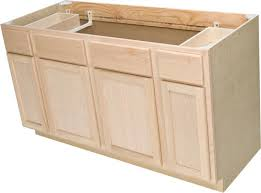 Unfinished Kitchen Cabinets Menards Quality One 60 X 34 1 2 Unfinished Oak Sink Base Cabinet With 2