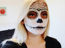 Sugar Skull Halloween Makeup Tutorial sugar skull makeup tutorial youtube