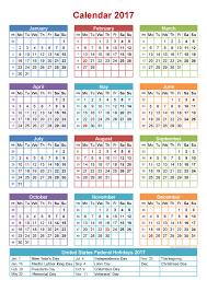 Free 2017 Full Year Calendar Template