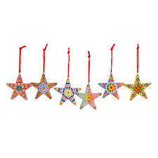 unicef market bright multi color handpainted ornaments