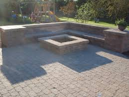Patio Firepit Pit And Paver Patio