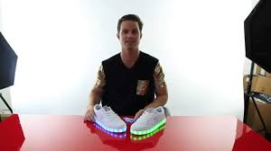 grown up light up shoes light up led shoes getting lit tutorial youtube