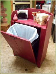 under cabinet trash can with lid home design ideas