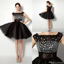 2016 little black short homecoming dresses for juniors lace bateau