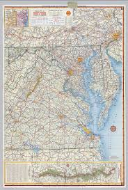 Blank Map Of Virginia by Shell Highway Map Of Delaware Maryland Virginia W Virginia