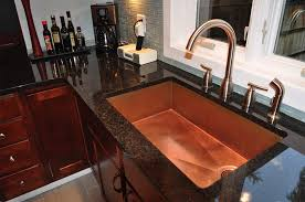 Kitchen Sinks And Faucet Designs Kitchen Inspiring Vintage Decoration Use Copper Kitchen Sink