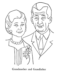grandparents day coloring pages grandmother and grandfather