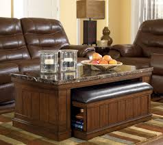 Ottomans Ottoman With Pull Out Tray Storage Ottoman Coffee Table