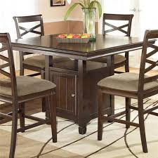 Pedestal Tables And Chairs Ashley Furniture Hayley Contemporary Square Counter Height