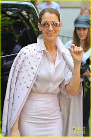 celine dion looks pretty in pink while out in paris photo 3917423