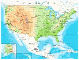 map usa jpg detailed physical map of usa by cartarium graphicriver