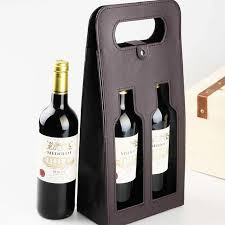 gift packaging for wine bottles delicate hollow out leather wine tote bag vino gift box