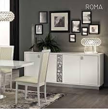 White Furniture Dining Sets Roma Dining Set White Table And 6 Chairs Esf Furniture