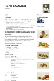 Resume Sample For Cook by Sous Chef Resume Samples Visualcv Resume Samples Database