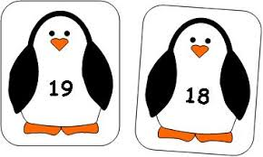 number cards for penguin theme