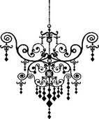 Black Chandelier Clip Art Clipart Of Chandelier K6201833 Search Clip Art Illustration