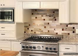 latest beige kitchen cabinets subway travertine backsplash tile