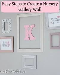 easy steps to create a nursery gallery wall love pasta and a