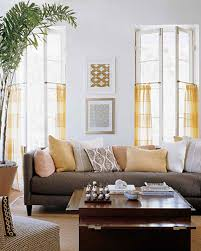 Living Room With Grey Walls by Yellow Rooms Martha Stewart