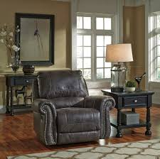 Benchcraft Furniture Ashley Breville Charcoal Recliner Dream Rooms Furniture