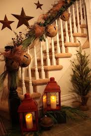 How To Decorate A Banister Best 25 Christmas Stairs Decorations Ideas On Pinterest