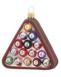billiard balls personalized ornament