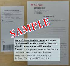 example doctors note medical notes u0026 records student health service mcgill university