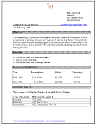 resume format doc for fresher accountant a resume template matter at the first look but so does the