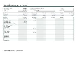 car maintenance excel free vehicle maintenance log template for