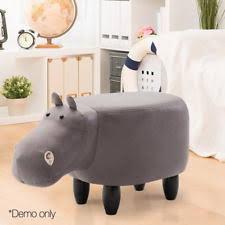 Hippo Ottoman Animals Grey Stools For Children Ebay