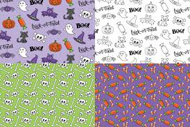 halloween scrapbook papers halloween digital paper pack trick or treat scrapbook paper