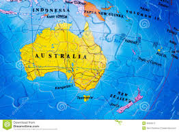 New Zealand And Australia Map Australia Puzzle Stock Photography Image 32906972