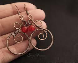 Knitted Chandelier Earrings Pattern 609 Best Wirework Earrings Inspirations Images On Pinterest Ear