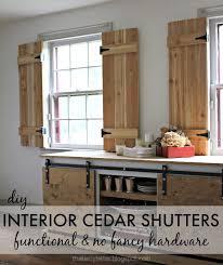 kitchen window shutters interior diy interior cedar shutters pretty handy cedar shutters