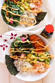 vegan sriracha mayo shrimp sushi bowls with spicy mayo the on bloor