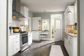 walls light grey and white kitchen cabinets with monsterlune gray